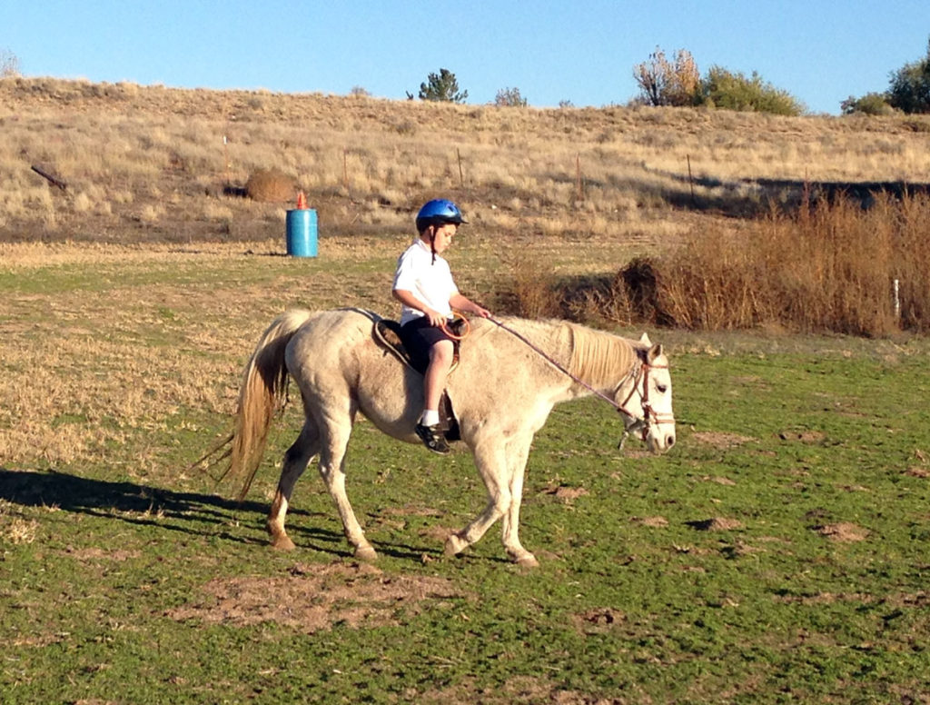 Boy-riding-Feliz-in-field